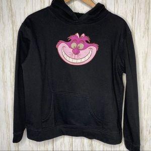 Disney black Cheshire Cat hoodie girls Large